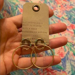 New Anthropologie earrings.